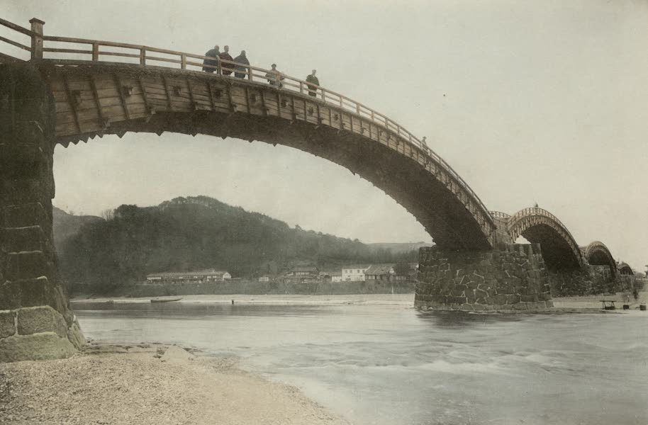 Sights and Scenes in Fair Japan - Kintai Bashi - A Bridge of Unique Construction in Southern Japan (1910)