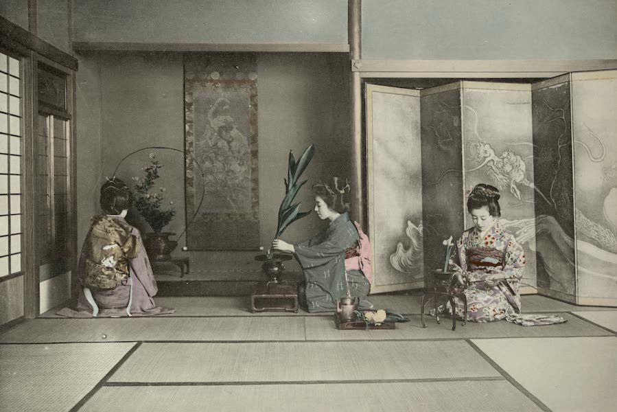 Sights and Scenes in Fair Japan - The Ikebana or Flower Arrangement - One of the Aesthetic Arts of Japan (1910)