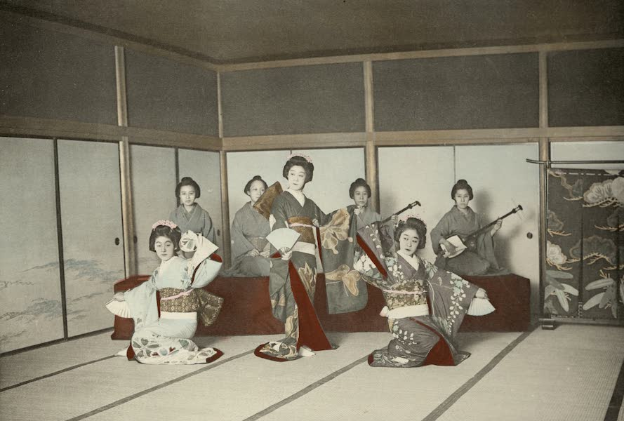 Sights and Scenes in Fair Japan - A Characteristic Japanese Dance (1910)