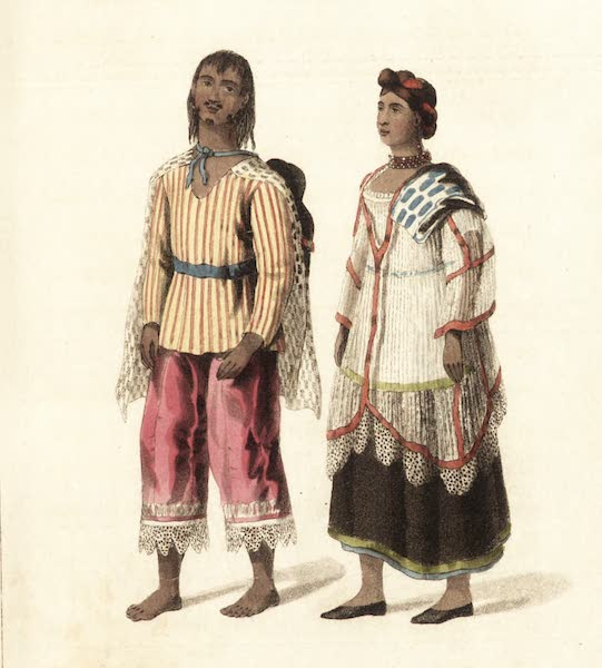 Six Months Residence and Travels in Mexico - Superior Indians in their holiday dress (1824)