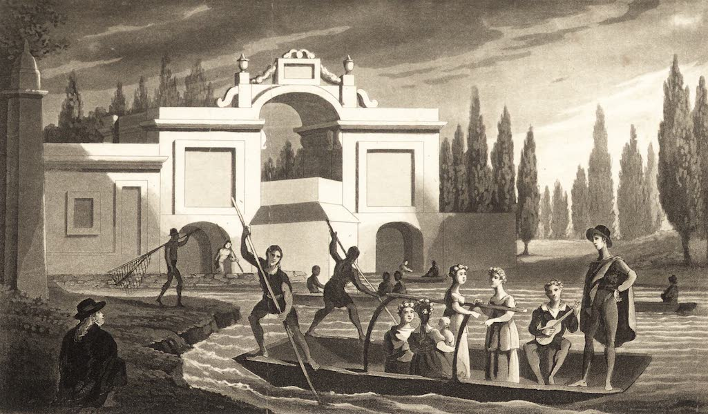 Six Months Residence and Travels in Mexico - Gate of the Canal of Chalco, Mexico (1824)