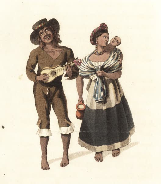 Six Months Residence and Travels in Mexico - Mexican Indians returning from market (1824)
