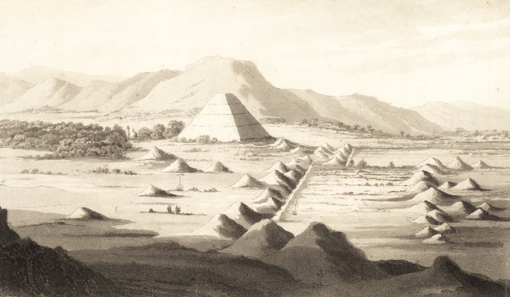 Six Months Residence and Travels in Mexico - Pyramid of the Sun or of San de Teotihuacan (1824)