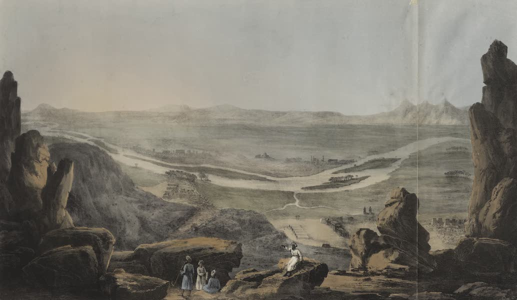 Six New Plates Illustrative of the Researches and Operations - General view of the scite of Thebes (1822)