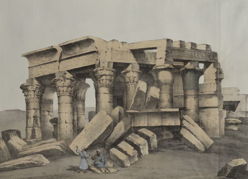 Six New Plates Illustrative of the Researches and Operations - Ruins of Ombos [Kom Ombo] (1822)