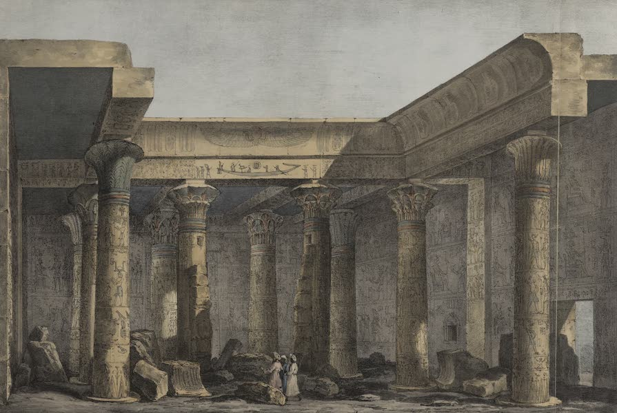 Six New Plates Illustrative of the Researches and Operations - View of the interior of the temple in the Isle of Philoe [Philae] (1822)