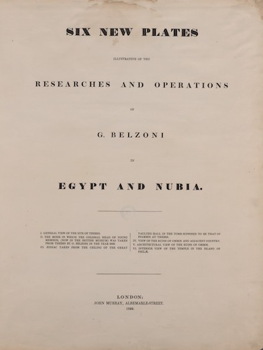 New York Public Library - Six New Plates Illustrative of the Researches and Operations