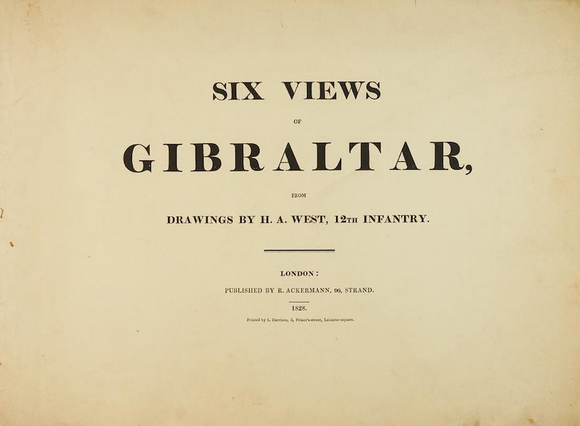 Six Views of Gibraltar - Title Page (1828)