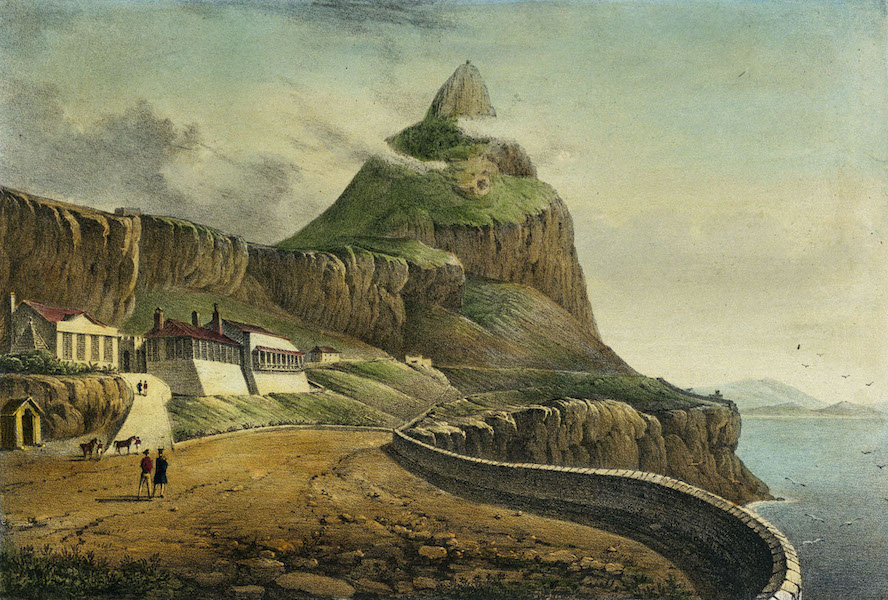 Six Views of Gibraltar - Gibraltar. Governor's Cottage, Europa (1828)