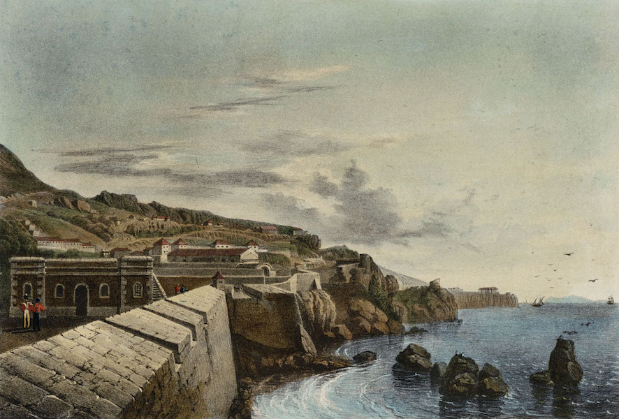 Six Views of Gibraltar - Gibraltar. From the New Mole, looking South (1828)
