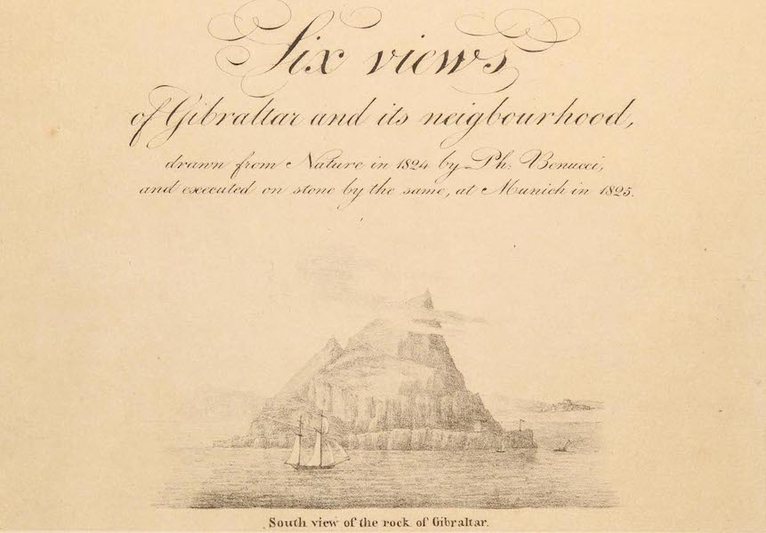 Six Views of Gibraltar and its Neighbourhood - Title Page (1825)