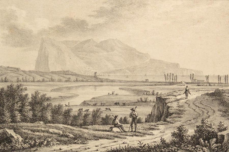 Six Views of Gibraltar and its Neighbourhood - View of the Rock of Gibraltar (1825)