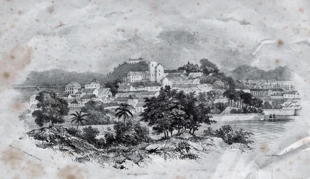 Six Views of Singapore and Macao - View of Macao from the Monte Fort near St. Paul's Church (1840)