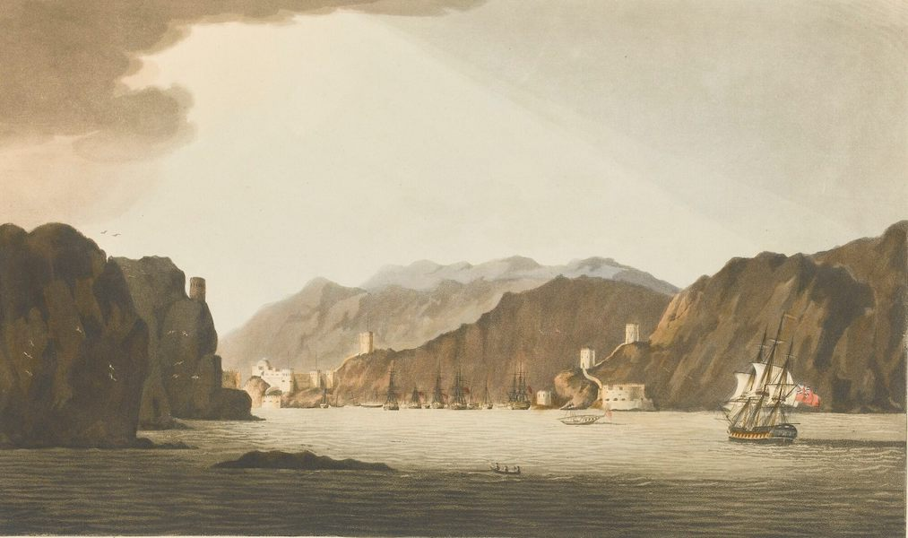 Sixteen Views of Places in the Persian Gulph - Muskat Habour from the Fisher-men's Rock (1813)