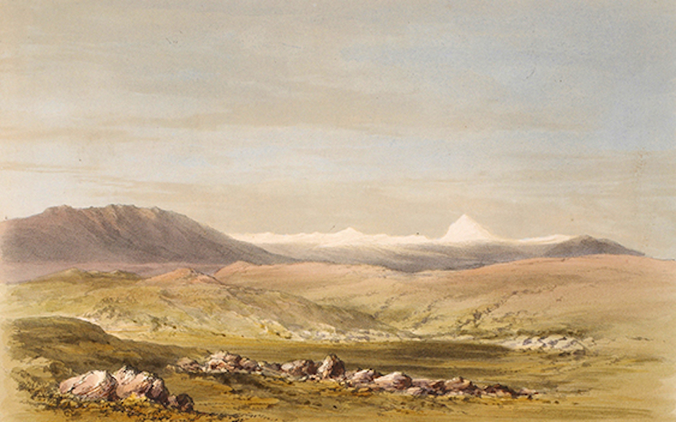 Sketches Between the Persian Gulf and Black Sea - Distant view of Mount Ararat (1852)