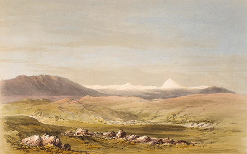 Distant view of Mount Ararat