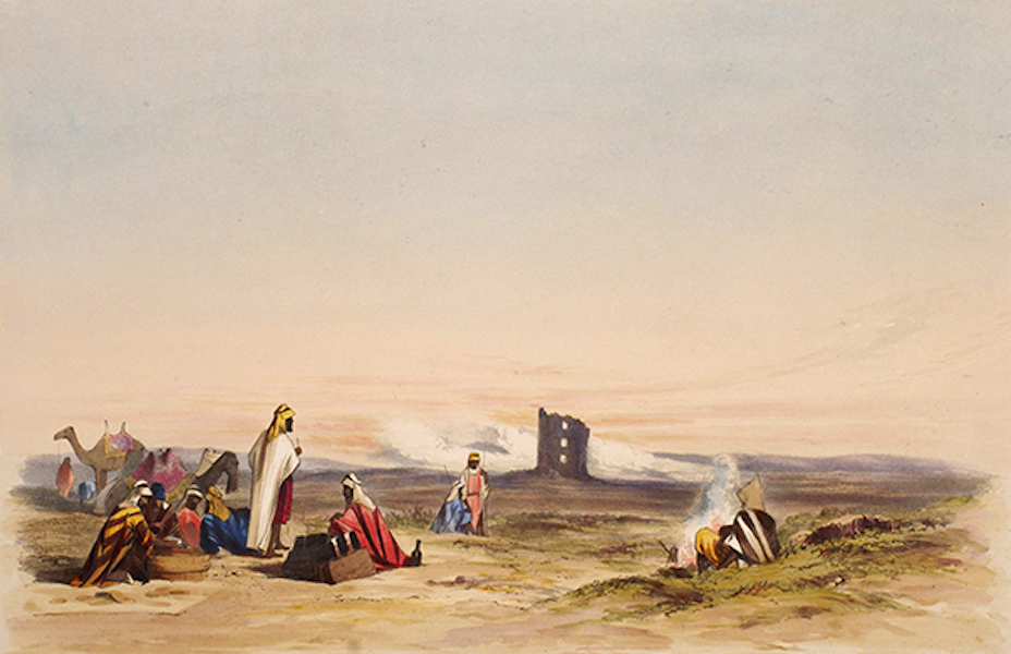 Sketches Between the Persian Gulf and Black Sea - Roman Ruin in the Desert on way to Palmyra (1852)