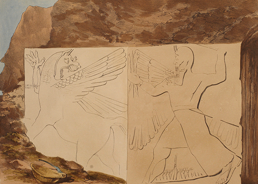 Sketches Between the Persian Gulf and Black Sea - Sculptures in the Mount at Nimroud (1852)