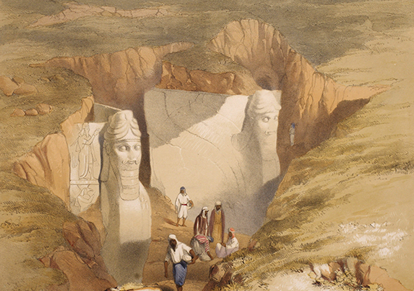 Sketches Between the Persian Gulf and Black Sea - Excavations on the Mound at Nimroud (1852)