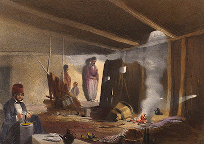 Interior of the Chief's House at the Kurdish Village of Espindar
