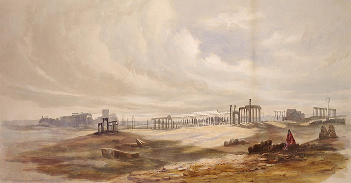 Sketches Between the Persian Gulf and Black Sea - Temple of the Sun and Colonnade, Palmyra (1852)