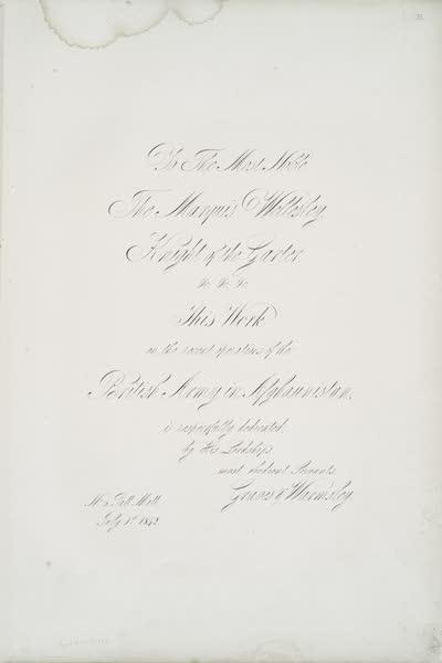 Sketches in Afghaunistan - Dedication (1842)