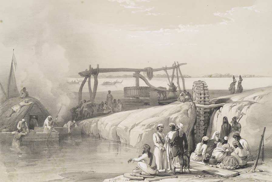 Sketches in Afghaunistan - Scene of the river Sutledge, near Pauk-Puttun in the Punjaub (1842)