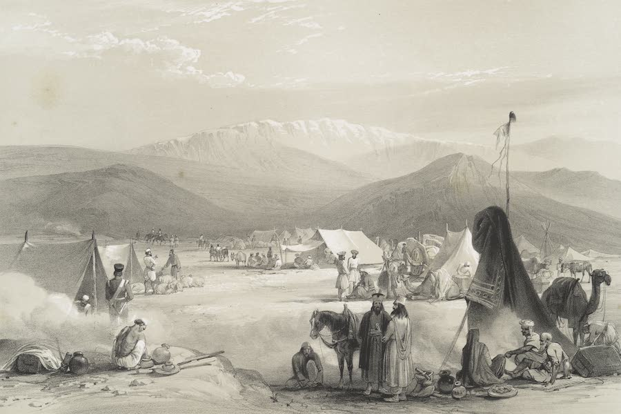 Sketches in Afghaunistan - The encampment at Dadur, with the entrance to the Bolan Pass (1842)
