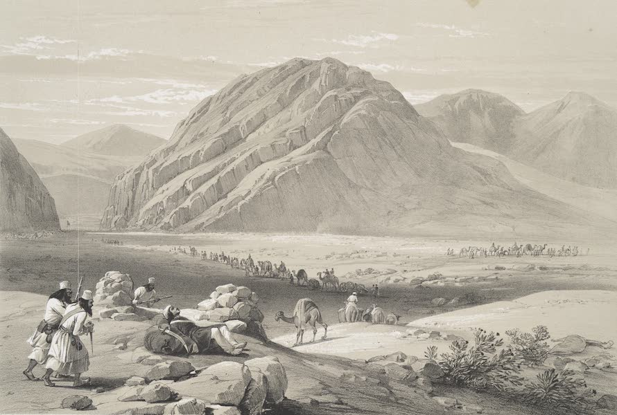 Sketches in Afghaunistan - View of the mountain Baba-Naunee, called Kutl-Cahor (1842)