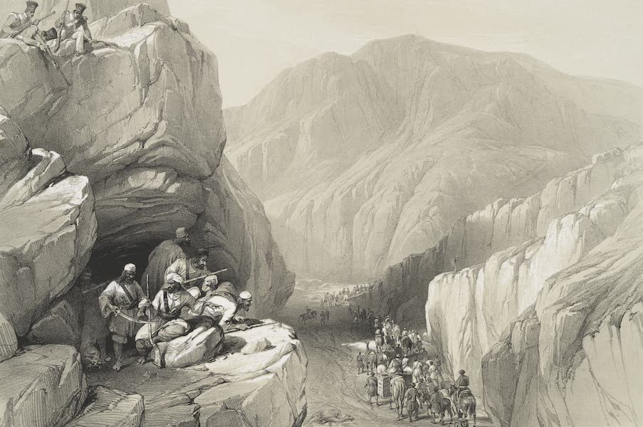 Sketches in Afghaunistan - The wild Pass of Siri-Kajoor (1842)