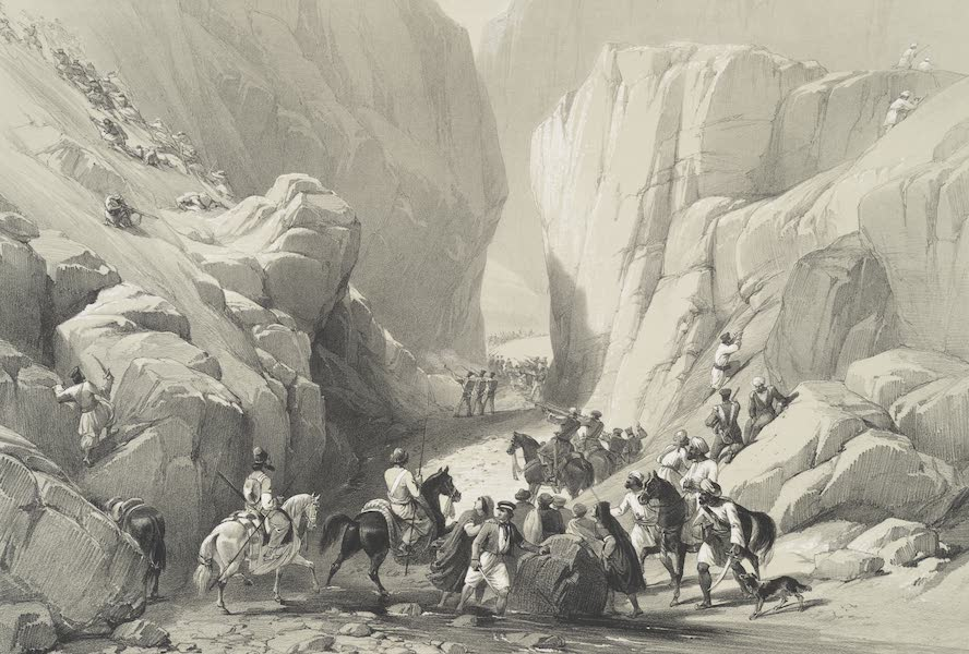 Sketches in Afghaunistan - The opening into the narrow Pass above the Siri Bolan (1842)