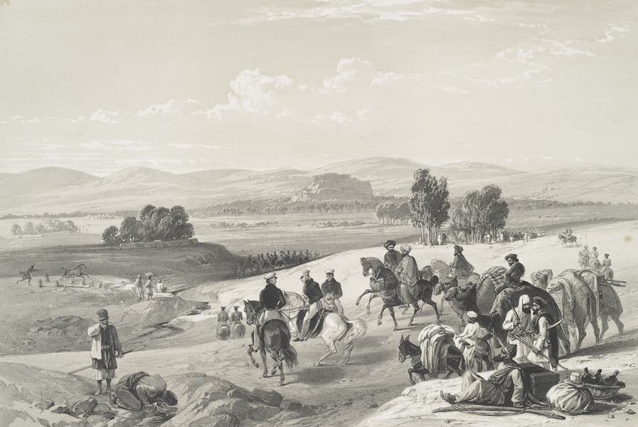 Sketches in Afghaunistan - The approach to the fortress of Kwettah (1842)