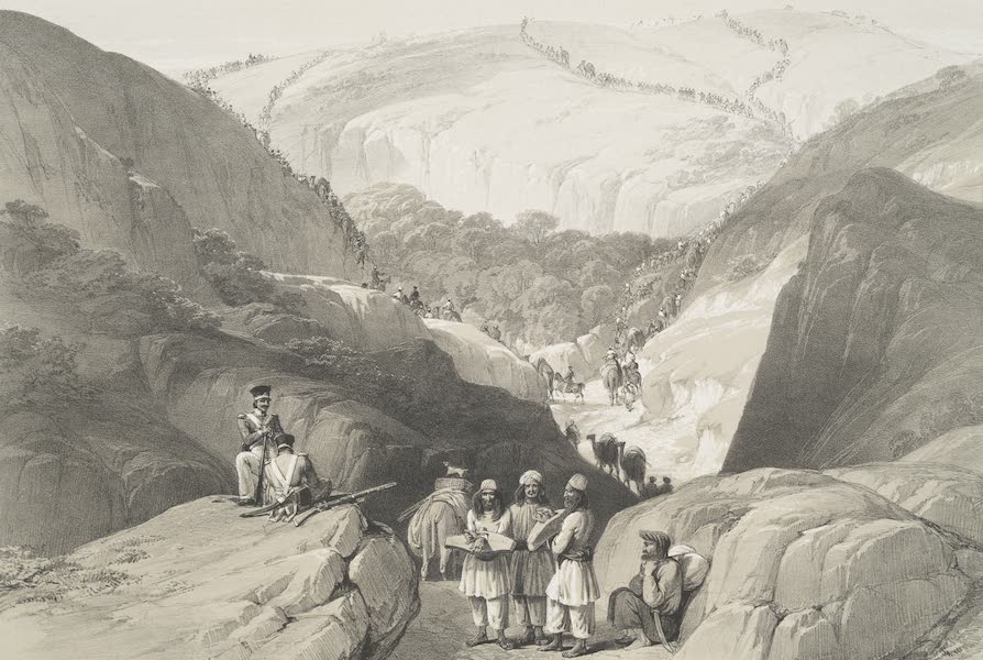 Sketches in Afghaunistan - The first descent through the Koojah Pass (1842)