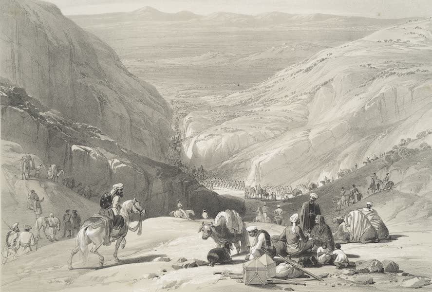 Sketches in Afghaunistan - The second descent through the Koojah Pass (1842)