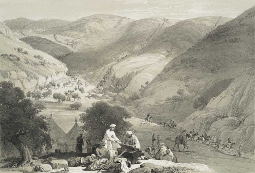 Sketches in Afghaunistan - The third descent of the Koojah Pass (1842)