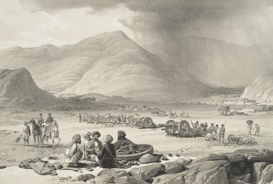 Sketches in Afghaunistan - The village of Urghundee (1842)
