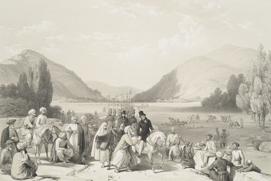 Surrender of Dost Mahommed Khan, to Sir William Hay Macnachten Bart, at the Entrance into Caubul from Killa-Kazee