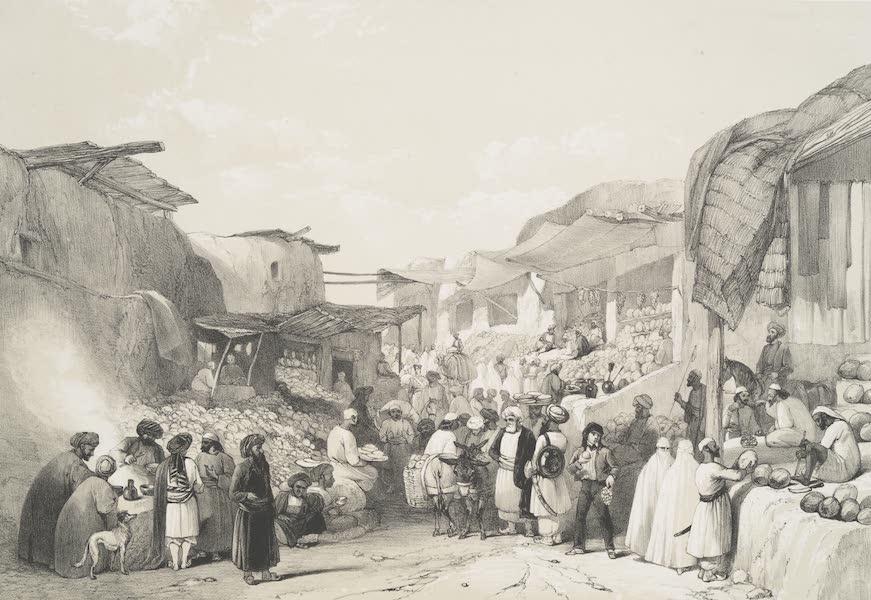 Sketches in Afghaunistan - The main street in the bazaar at Caubul in the fruit season (1842)
