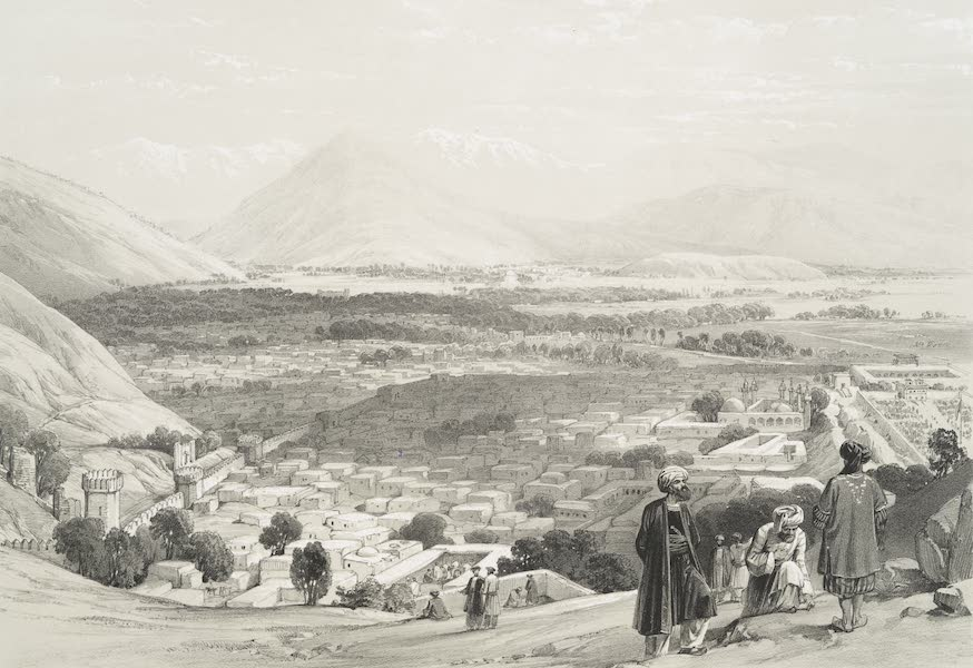 Sketches in Afghaunistan - The Balla Hissar and city of Caubul from the upper part of the Citadel (1842)