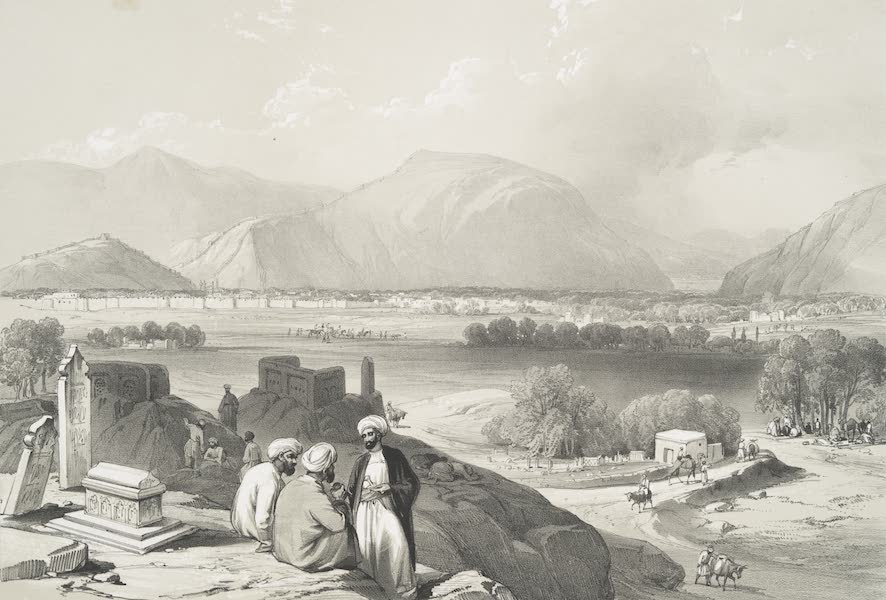 Sketches in Afghaunistan - Caubul, from a burying ground on the mountain ridge, North-East of the city (1842)