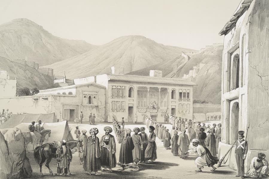 Sketches in Afghaunistan - The Durbar-Khaneh of Shah Shoojah-ool-Moolk, at Caubul (1842)