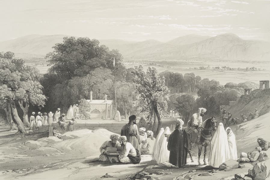 Sketches in Afghaunistan - The tomb of the Emperor Baber (1842)