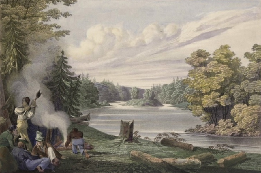 Sketches in New Brunswick - Encampment at Stanley (1836)