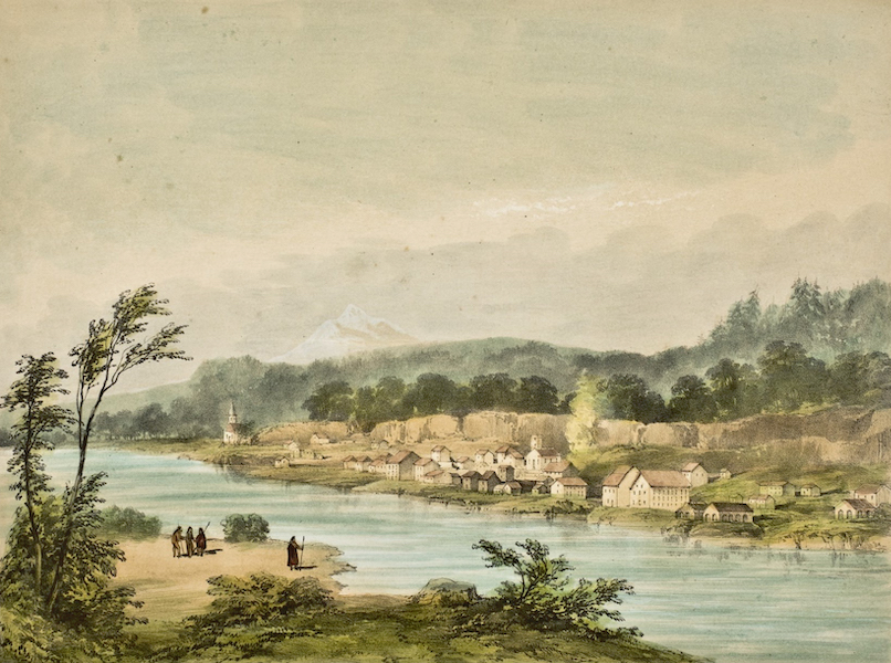 Sketches in North America and the Oregon Territory - The American Village (1848)