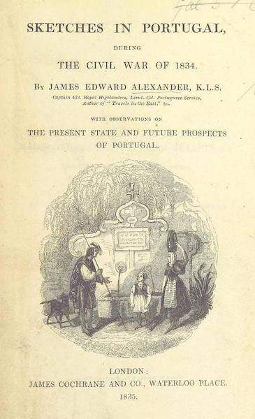 Sketches in Portugal during the Civil War - Title Page (1835)