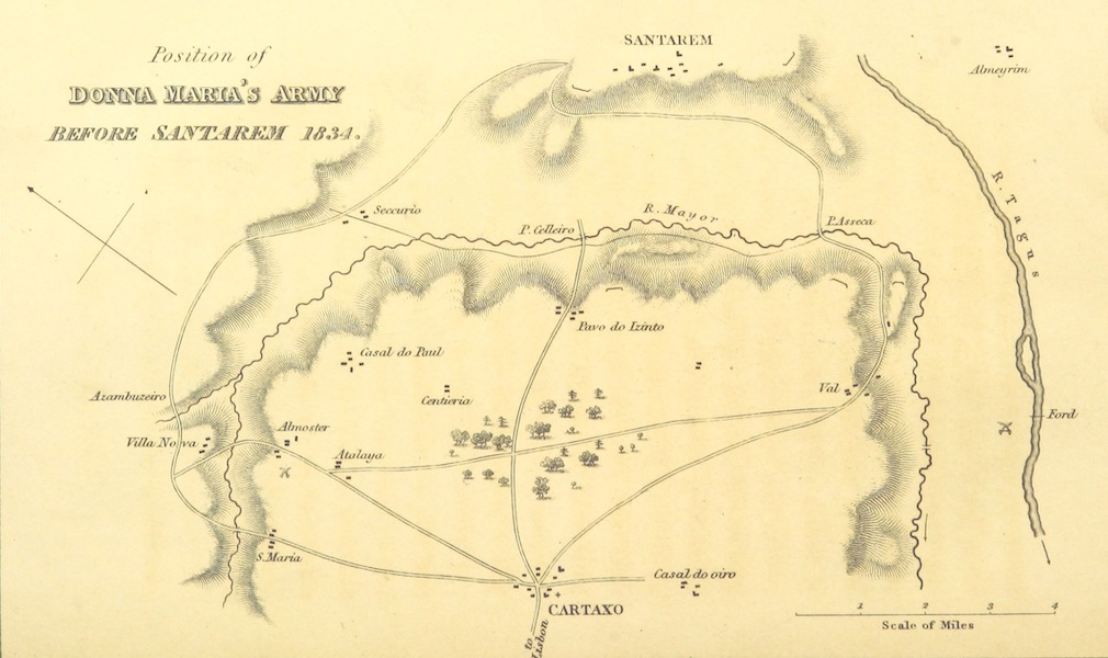 Sketches in Portugal during the Civil War - Position of Donna Maria's Army Before Santarem 1834 (1835)