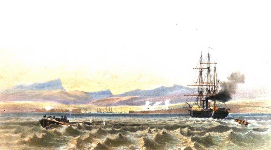 Sketches in the Crimea - Sebastopol from the Sea ('Terrible' Steam Frigate) (1856)