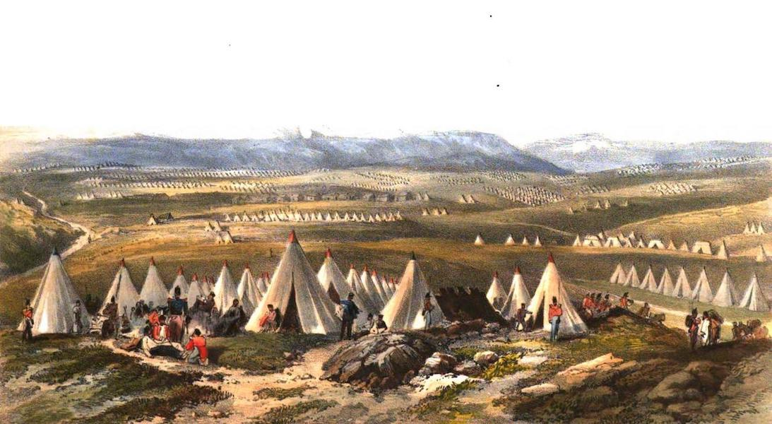 Sketches in the Crimea - General View of the Allied Camps (1856)