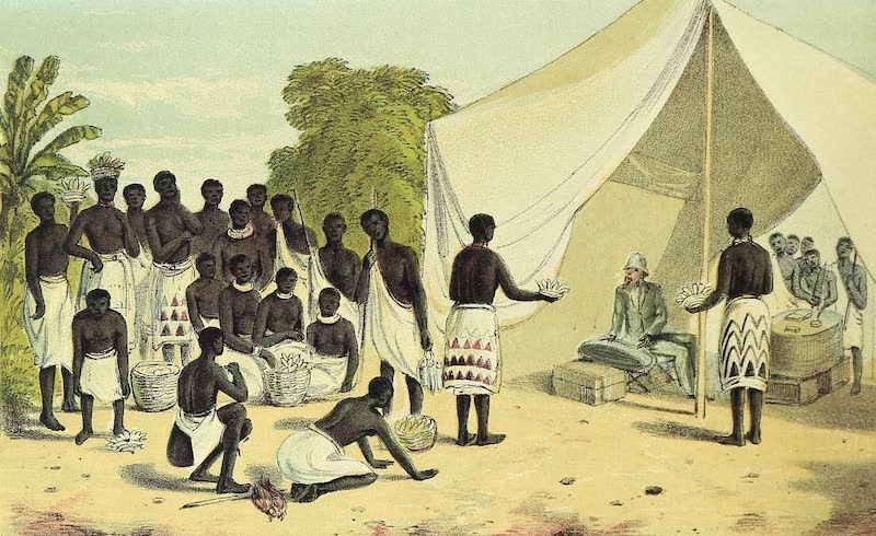 Sketches of African Scenery - Marketing at the C.M.S Camp Ukerewe (1878)
