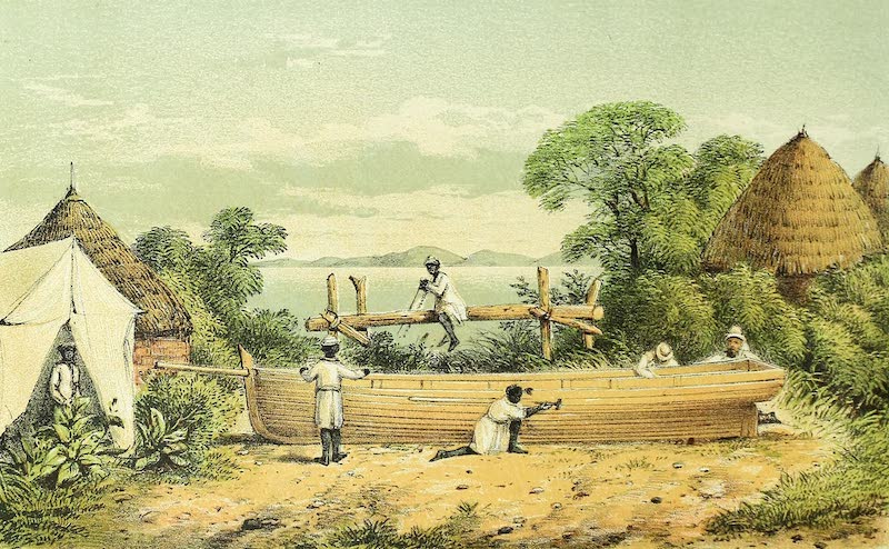 Sketches of African Scenery - Repairing the Daisy at Kagei (1878)